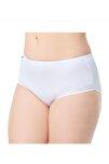 Kadın Beyaz Elastan Bato Beli Yüksek Külot 3lü