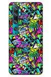 Graffitix (9) Desenli Silikon Kapak Xiaomi Mi Note 10 Uyumlu Kılıf