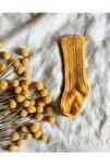 Safran Rengi Dizaltı Bebek Çorabı