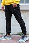 Erkek Siyah Fermuar Detaylı Eşofman Altı 1kxe8-44378-02