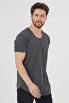 Erkek Füme Pis Yaka Salaş T-shirt-tcps001r27