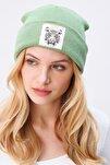 Kadın Çağla Yeşili Tıger Nakışlı Bere ALC-A2059