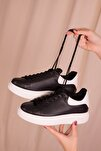 Siyah-Beyaz Kadın Sneaker 15732