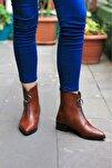 Kadın Kahverengi Cilt 3cm Topuklu Bot