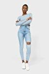 Kadın Açık Mavi Süper Yüksek Bel Jean 01450510