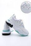 Kadın Beyaz Sneaker Dolgu Topuk Spor Ayakkabı Atrin