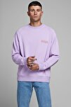 Erkek Lavanta Crew Neck Sweatshirt 12180365