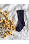 Bebek Parlement Renk Dizaltı Çorap
