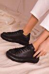 Siyah-Siyah Kadın Sneaker 15732