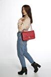 Kadın Kırmızı Roslyy Zincir Askılı Omuz Çantası
