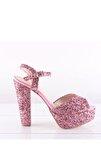 Kadın Pembe Abiye Ayakkabı