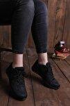 Kadın Siyah Taban Spor Ayakkabı