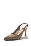 Kadın Rugan Deri Bilekten Bağlamalı İnce Topuk Ayakkabı