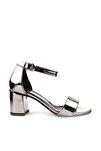 Platin Ayna Kadın Topuklu Ayakkabı 2013-05-1604