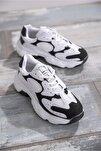 Bayan Spor Ayakkabı Beyaz Siyah Tb284 -> 37 -> Beyaz Siyah