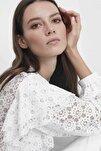 Kadın Ekru Dantel Bluz IS1200006091018