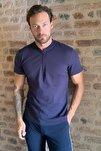 Lacivert Erkek Slim Fit Fermuarlı T-Shirt TMNSS20TS0966