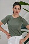 Kadın Haki Basic  T-Shirt