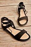 Siyah Süet Kadın Sandalet L0652071065