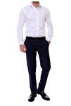 Erkek Lacivert Slim Fit Klasik Pantolon P 888