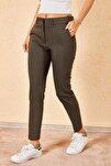 Kadın Kalem Haki Pantolon
