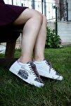 Shoes Hakiki Deri Baskılı Ve Bağcık Detaylı Kadın Spor Ayakkabı 20wr1903-sna