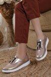 Kadın Pembe Oxford Spor Ayakkabı Püsküllü05012020