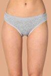 Kadın Gri 6'lı Paket Pamuklu Su Yolu Bikini Külot