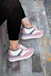 Shoes Hakiki Deri File Detaylı Bağcıklı Kadın Spor Ayakkabı 20wq10402