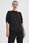 Kadın Siyah Sıfır Yaka Bluz K20BL080