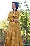 1627 Yaka Bağcıklı Tesettür Elbise