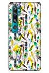 Xiaomi Mi Note 10 Pro Kılıf Desenli Özel Seri Tüyler (5) Koruma Kabı