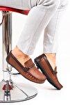 Ortopedik Loafer Erkek Ayakkabı Mln1505 Taba Kahve