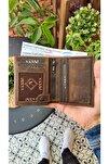Visso 114 Hakiki Deri Cüzdan Erkek Kadın Kartlı Cüzdan Çanta