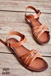Hakiki Deri Taba Kadın Sandalet K05685161903