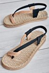 Sıyah Kadın Sandalet