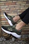 Haki Beyaz Cilt Unisex Sneaker 0012072