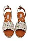 Kadın Bej Bağcıklı Sandalet dgs017-hzl005