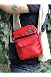 Kırmızı Omuz Ve Çapraz Askılı Çanta Unisex