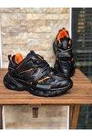 Unisex Siyah Yüksek Taban Sneaker