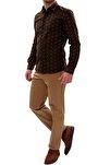 Erkek Kahverengi Slim Fit Spor Pantolon P 905
