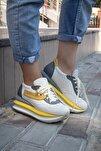 Shoes Hakiki Deri File Detaylı Bağcıklı Kadın Spor Ayakkabı 20wq10400