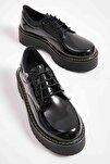 Siyah Rugan Kadın Oxford Ayakkabı M0836000198