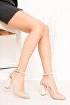 Lillian Topuklu Krem Süet Ayakkabı