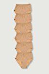 Kadın Ten 6'lı Paket Ribana Bato Külot ELF568T0922CCM6