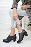 Hakiki Deri Topuklu Günlük Kadın Ayakkabı Sonbahar / Kış Sezon