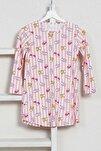 Kız Çocuk P.suprem Uzun Kol 3-7 Yaş Beden Baskılı Desen Pembe Tunik