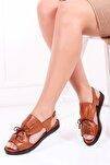 Hakiki Deri Taba Kadın Deri Sandalet Dp26-0592