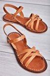 Hakiki Deri Taba Kadın Sandalet L0602809003