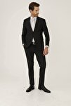 Erkek K.gri Slım Fıt / Dar Kalıp Ince Kırlangıç Takım Elbise